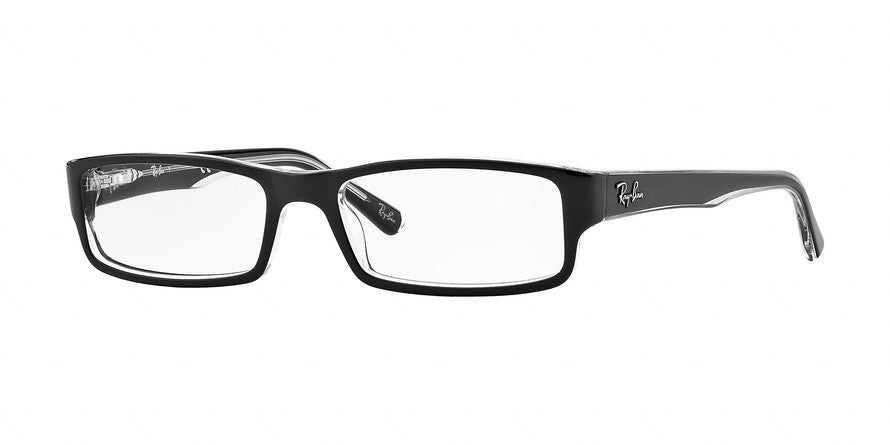 RayBan RX5246 2034 TOP BLACK ON TRANSPARENT Specs at Home