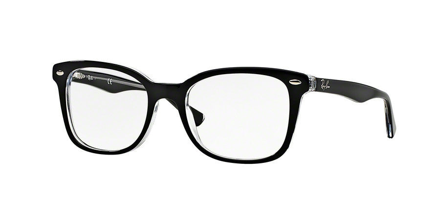 RayBan RX5285 2034 TOP BLACK ON TRANSPARENT Specs at Home