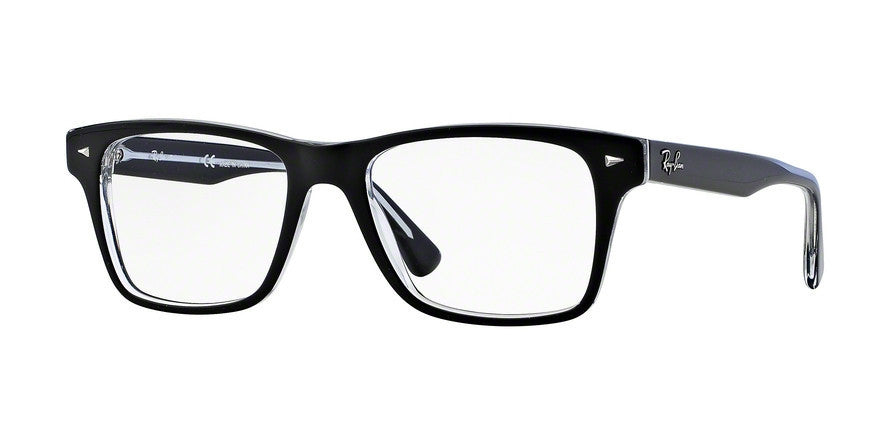 RayBan RX5308 2034 TOP BLACK ON TRANSPARENT Specs at Home