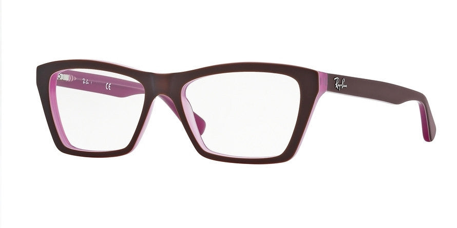 RayBan RX5316 5386 TOP MATTE BROWN ON OPAL PINK Specs at Home