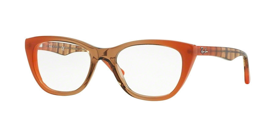 RayBan RX5322 5487 GRADIENT BROWN ON ORANGE Specs at Home