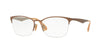 RayBan RX6345 2732 BRUSHED LIGHT BROWN ON GREY Specs at Home