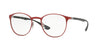 RayBan RX6355 2922 BRUSHED BORDO' Specs at Home