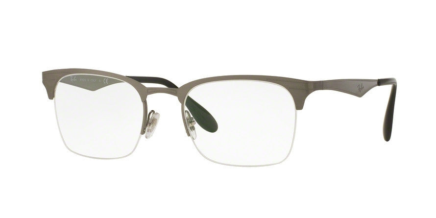 RayBan RX6360 2553 BRUSCHED GUNMETAL Specs at Home