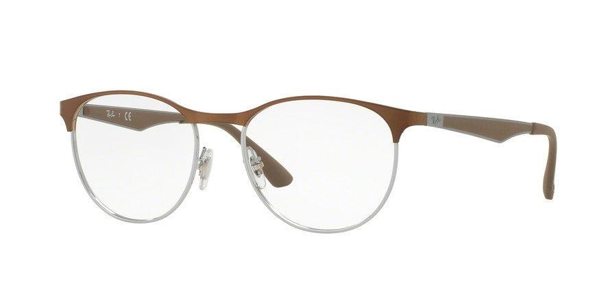 RayBan RX6365 2531 LIGHT BROWN GLOSS Specs at Home