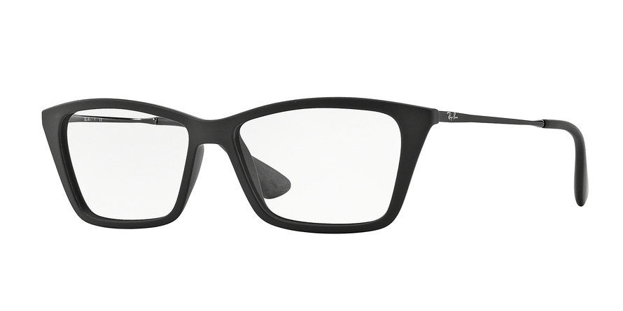 RayBan RX7022 5364 RUBBER BLACK Specs at Home