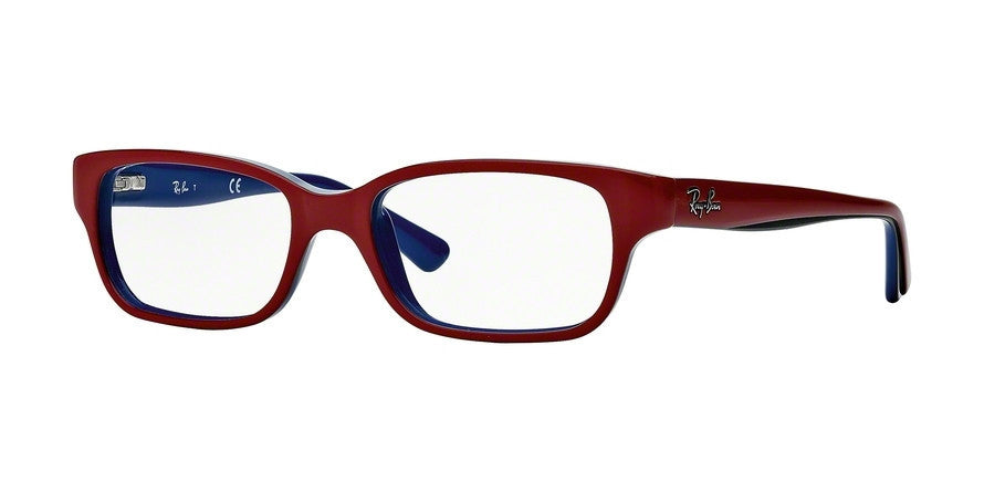 RayBan RY1527 3577 TOP RED ON BLUE Specs at Home