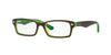 RayBan RY1530 3665 TOP BROWN ON GREEN FLUO Specs at Home