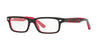 RayBan RY1535 3573 TOP BLACK ON RED Specs at Home