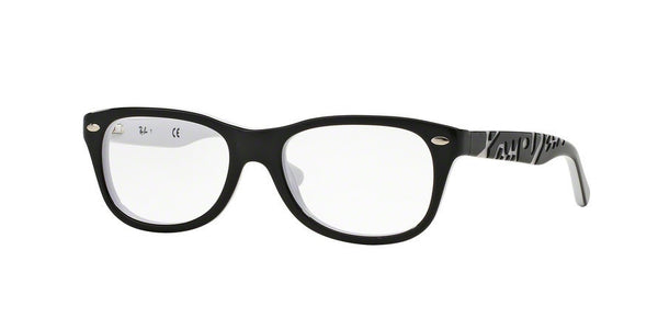 RayBan RY1544 3579 TOP BLACK ON WHITE Specs at Home