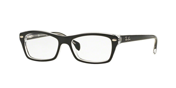RayBan RY1550 3529 TOP BLACK ON TRANSPARENT Specs at Home