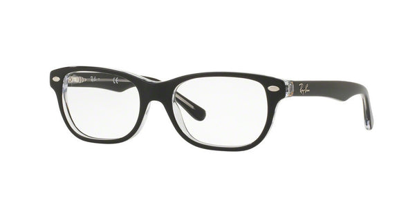 RayBan RY1555 3529 TOP BLACK ON TRANSPARENT Specs at Home