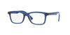 RayBan RY1562 3686 TRASPARENT BLUE Specs at Home