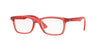RayBan RY1562 3687 TRASPARENT RED Specs at Home