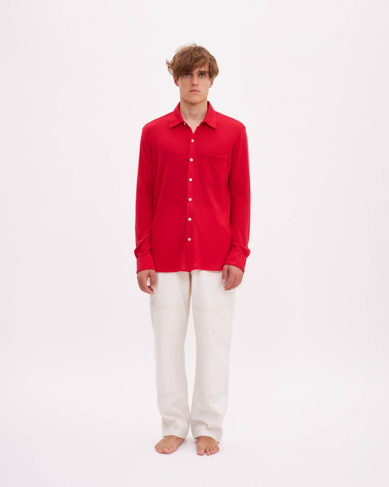 Lungomare, Bellariva Cashmere Shirt - Red