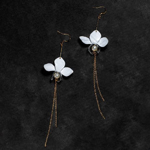 White Orchid Drip Earrings