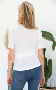 Avani Apparel Wrap-Over Top Olivier - White at Eco Fashion Labels 2