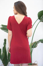 Load image into Gallery viewer, Avani Apparel Dress Sophora - Red at Eco Fashion Labels 2