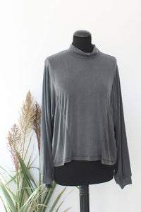 Cupro Roll-neck Shirt Indira - Grey