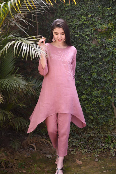 Linen Tunic - Rose Pink