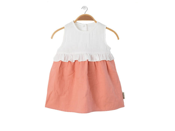 PETER JO KIDS - Organic Dress Lollipop - Peach