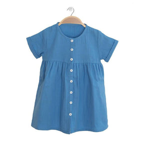 PETER JO KIDS - Organic Dress Harmony - Blue Lagoon