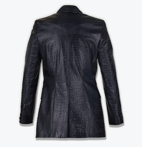 """SECOND LIFE ""- CROCO SKIN PRINT BLAZER"