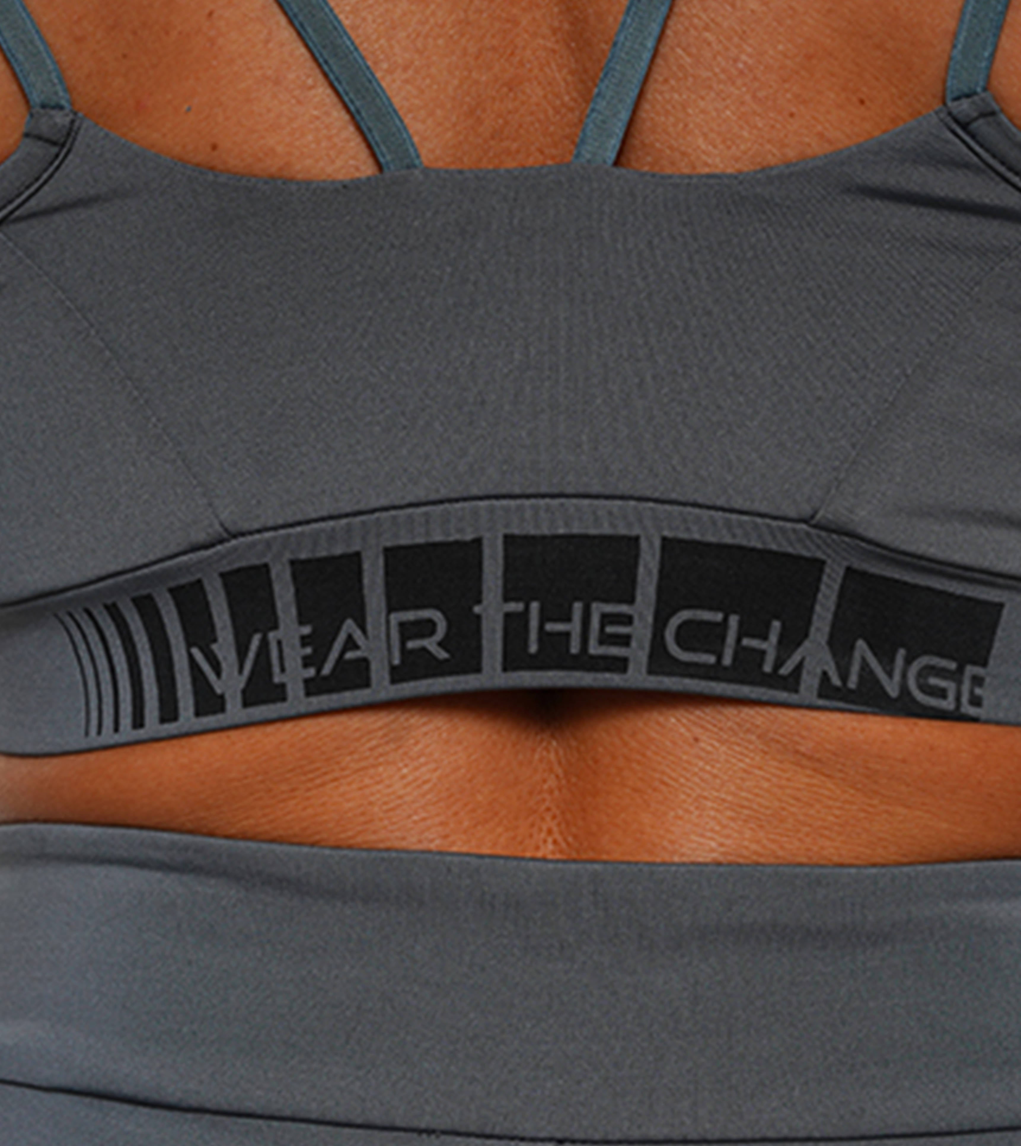 CHARGING SPORTS BRA - ANTRACITE