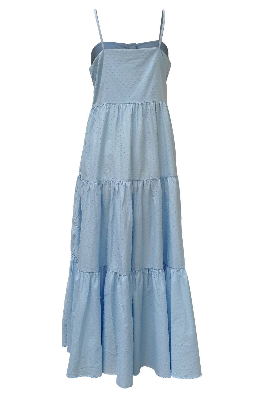Recycled cotton dress Carla - Blue plumetis