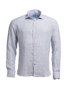 PANAREHA Linen Stripes Shirt PHUKET Grey