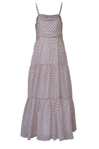 Recycled cotton dress Carla - Dotted pink