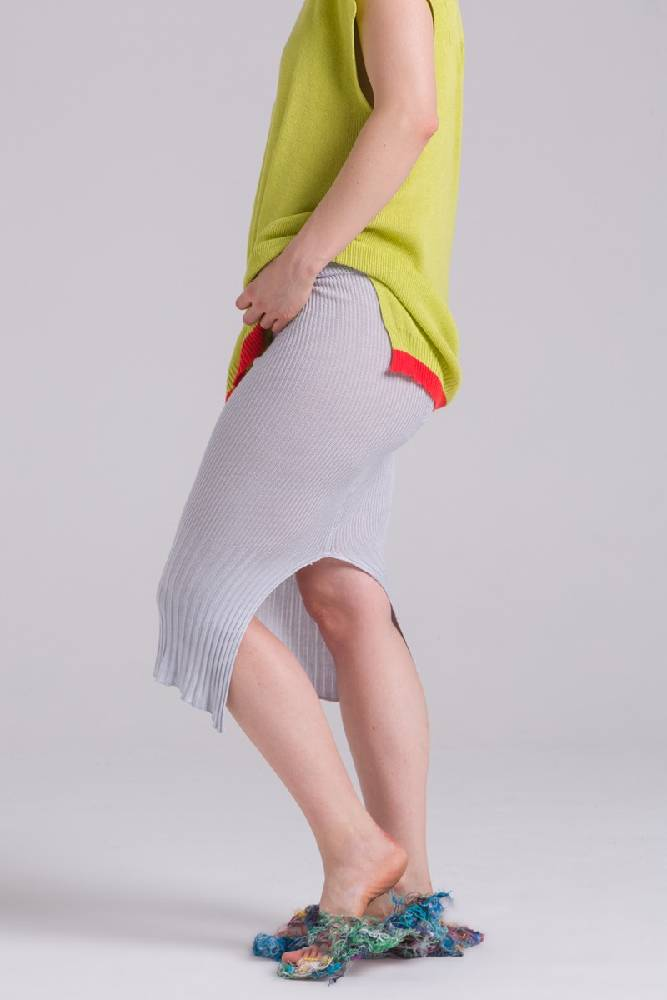 The Melior knitted Ribbed skirt