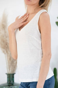 Avani Apparel Linen Tank Top Lilas at Eco Fashion Labels 1
