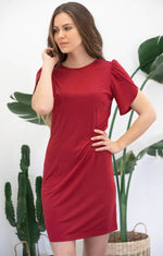 Load image into Gallery viewer, Avani Apparel Dress Sophora - Red at Eco Fashion Labels