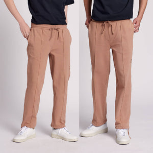 "Organic Cotton Pants ""SIDE"" in camel"
