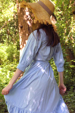Load image into Gallery viewer, Upcycled cotton dress MARIUS - Blue