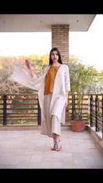 Load image into Gallery viewer, Linen Cape - Beige dobby