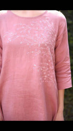 Load image into Gallery viewer, Linen Tunic - Rose Pink
