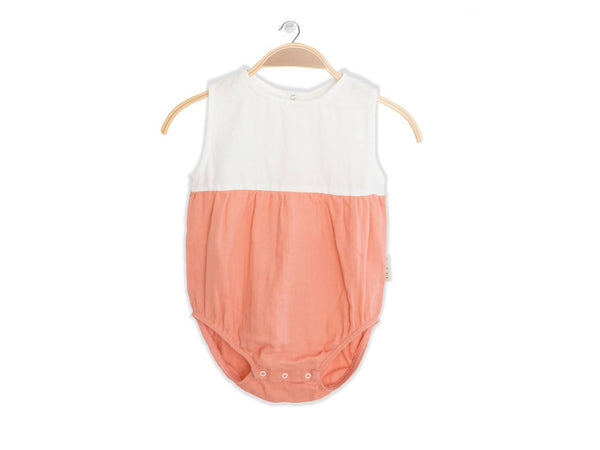 PETER JO KIDS - Organic Onesie Lullaby - Peach
