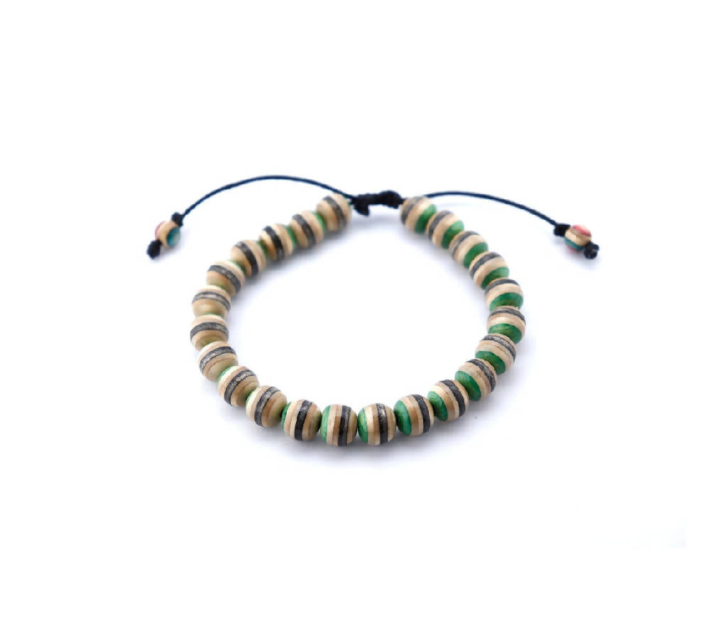Recycled skateboards green bracelet eco fashion sustainable accessories