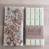Hailed Salted Almond White Chocolate Bar