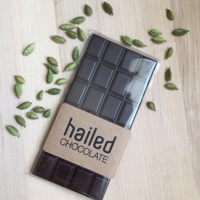 Hailed Dark Chocolate Cardamom Bar
