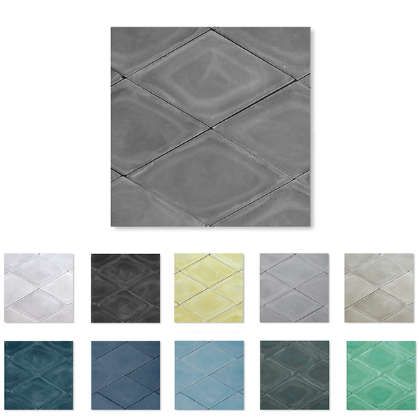 Diamond or rhomb shaped cement tile / encaustic tile for floor and walls