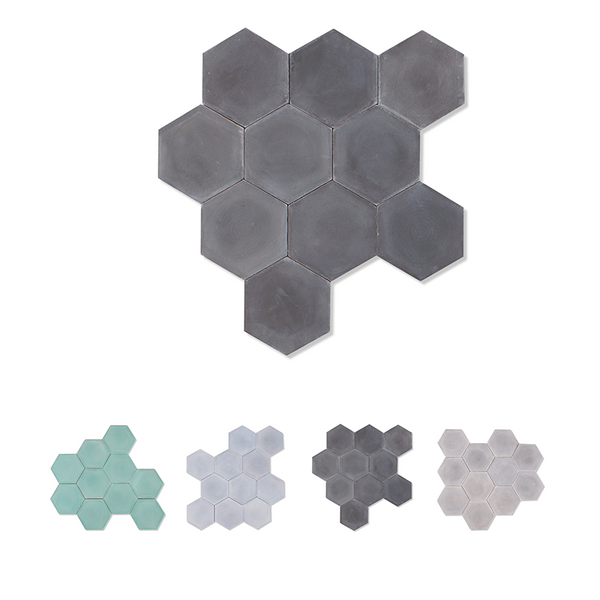 Hexagon shaped cement tile / encaustic tile for floors and walls