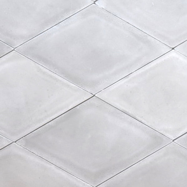 Diamond or rhomb shaped cement tile / encaustic tile in grey for outdoor use, e.g. garden, patio or driveway