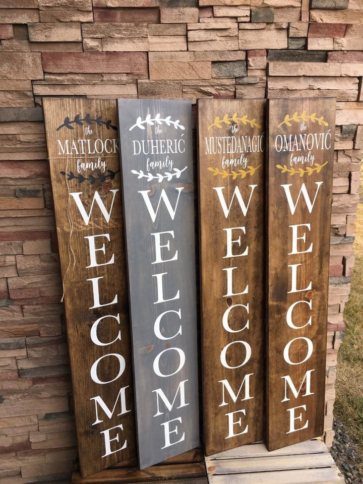 Family Laurel Welcome Sign Get Crafty With Me