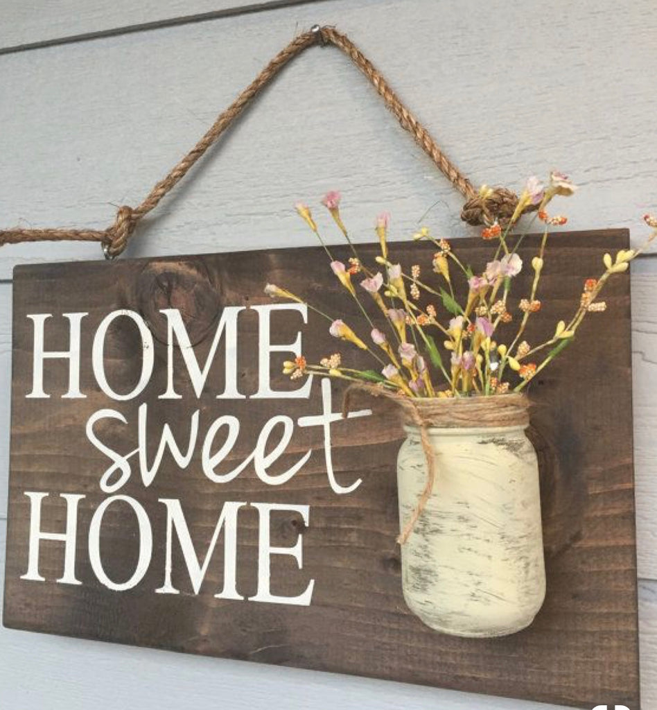 Home Sweet Home/Mason Jar