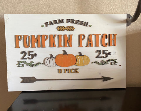 Farm fresh Pumpkin Patch- 3D