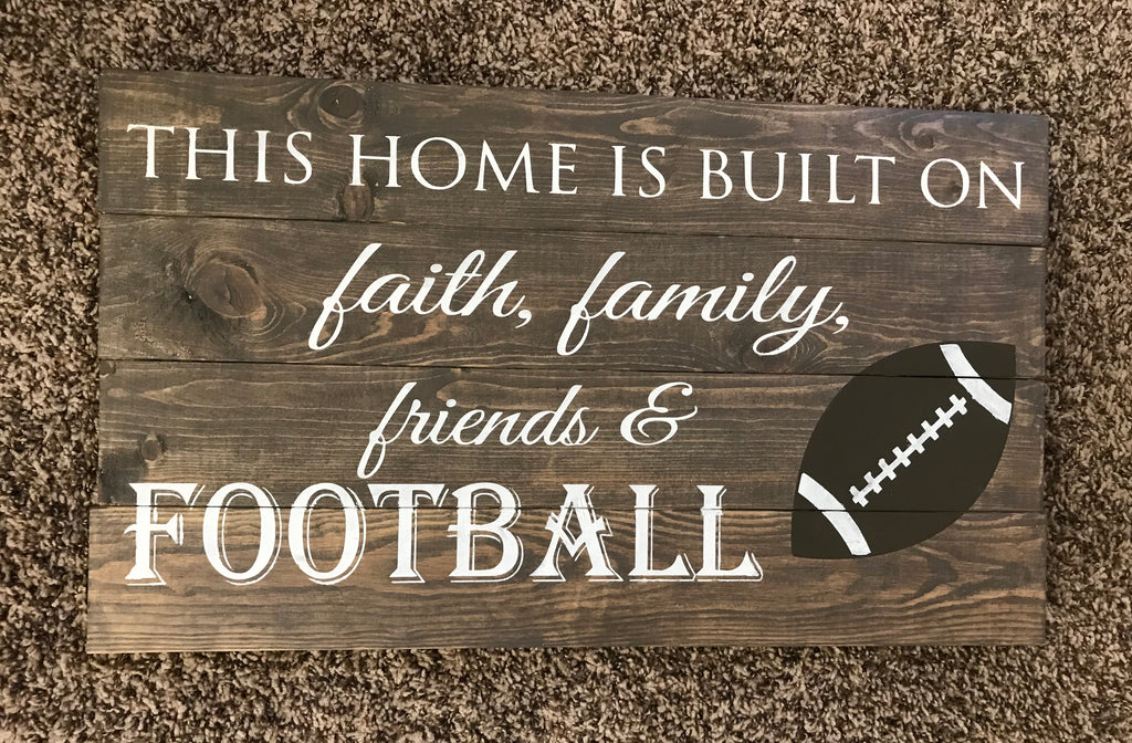 This home is built/ football