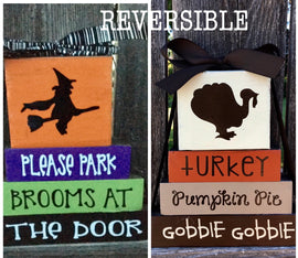Reversible Halloween/Thanksgiving